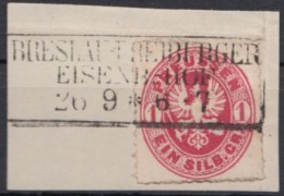 "Mi-Nr. 16, Ra ""Breslau-Freiburger Eisenb. -Hof"" - Preussen"