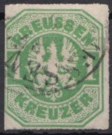 Mi-Nr. 22, Klar Gestempelt, Links Scherentrennung, O - Preussen