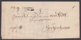 """Vorphila: Zier-Ra """"Meissen"""", 1823, Brief Mit Inhalt - Sachsen"""