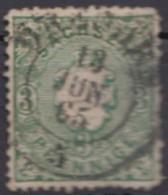 """Mi-Nr. 14, Zentr. """"Dresden"""", Dünne Stellen, O - Sachsen"""