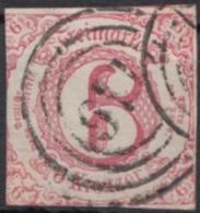 "Mi-Nr. 22, Zentr. ""166"", Gladenbach, Marke An 3 Seiten Berührt, O - Thurn Und Taxis"