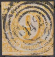 "Mi-Nr. 23, Zentr. ""142"", Offenbach, 2seitig Berührt, O - Thurn Und Taxis"