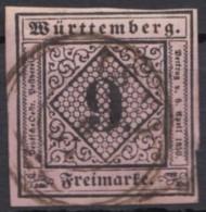 Mi-Nr. 4, Vollrandig, Zentr. Gestempelt, O - Wuerttemberg