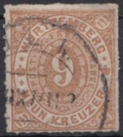 Mi-Nr. 40a, Gut Gestempelt, Winz. Dünne Stelle, O - Wuerttemberg