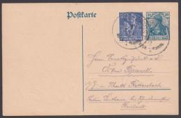 """Bahnpost, """"Augsburg-Memmingen"""", K1 Auf Bedarfskarte Mit Guter Frankatur - Briefe U. Dokumente"""