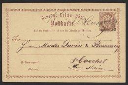 """Bahnpost, """"Breslau- Berlin III"""", L3 Auf Bedarfskarte Mit Handschr. Aufgabeort, 31.3.1874, Oben Unauffälliger Bug - Briefe U. Dokumente"""