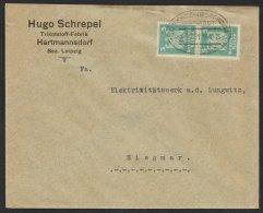 """Bahnpost, """"Chemnitz- Oberfrohna"""", 1925, Sauberer Firmenbrief - Deutschland"""