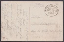 "Bahnpost, ""Dresden- Bodenbach"", Farbige Feldpost-AK, 1918 - Briefe U. Dokumente"