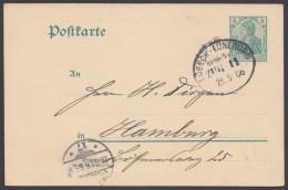 "Bahnpost, ""Lübeck- Lüneburg"", 25.5.06, Bedarf - Briefe U. Dokumente"