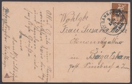 """Bahnpost, """"Salzburg- Mühldorf"""", Bay. Bahnpost- K1, AK, 1921 - Briefe U. Dokumente"""