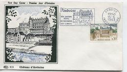 CHATEAU D'AMBOISE  (Yv. N° 1390) 1er Jour; Flamme  SECAP Concordante  / 1963 - FDC