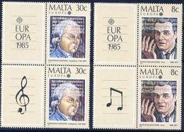Malta 1985- Europa Cept  -  Set With Vignettes - Europa-CEPT