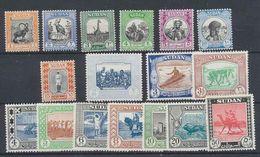 SUDAN  SOUDAN 1951 - Serie Corrente - 17 Val  - MNH ** - Timbres