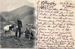 Chèvre Et Chevrière - Paysannes Du Val D' Illiez - Incunable 1899      (104184) - Animals