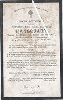Image Mortuaire - Armentières - HANCQUART Sophie Désirée Jhe (épouse HIMBERT Emile Louis Juste) - Décès