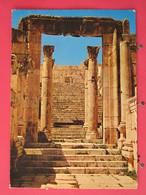 Jordanie - Temple Gate - Jerash Jordan - Joli Timbre - Scans Recto-verso - Jordan