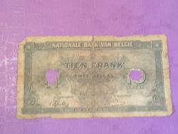 Belgique 10 Francs 2 Belgas 1943 P122 Circulé - [ 2] 1831-... : Royaume De Belgique