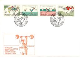 Olympische Sommerspiele Seoul Korea 5.9.1988 4 Werte FDC Ersttag First Day Paul Flora - FDC