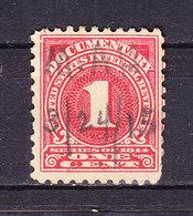 USA, Gebuehrenmarke, 1 Cent (49341) - Gebührenstempel, Impoststempel