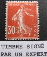 LOT FD/1567 - 1921 - TYPE SEMEUSE - N°160 NEUF** ☛ Timbre Signé Par Un Expert - BON CENTRAGE - 1906-38 Semeuse Camée