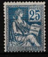 FRANCE Mouchon Type II  25c  Bleu (Y&T 118), Neuf*, B - Frankreich