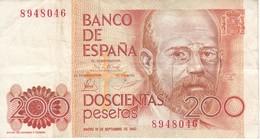 BILLETE DE ESPAÑA DE 200 PTAS DEL 16/09/1980 SIN SERIE   (BANKNOTE) - [ 4] 1975-… : Juan Carlos I