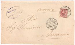 X1521 10 Centesimi Leoni - 1915 Viaggiata Da Giuliano Di Roma A Amaseno (Frosinone) - Storia Postale
