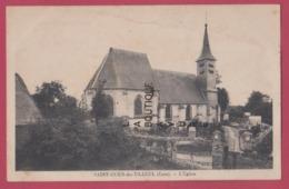 27 - SAINT OUEN DU TILLEUL---L'Eglise Cimetiere----cpsm Pf - Francia