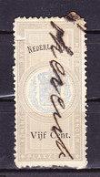 Niederlaendisch Indien, Gebuehrenmarke, 5 Cent (49349) - Gebührenstempel, Impoststempel
