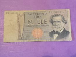 Italie 1000 Lire 1969 P100c Circulé - [ 2] 1946-… : Républic