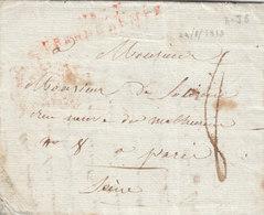 """France 1813 Entire Letter """"No. 65 GRANDE ARMEE"""" En Rouge To Paris (q169) - Sellos De La Armada (antes De 1900)"""