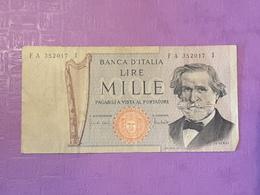 Italie 1000 Lire 1969 P100a Circulé - [ 2] 1946-… : Républic