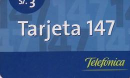 TARJETA TELEFONICA DE PERU. PREPAGO (001) - Peru