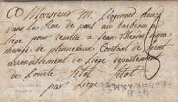 "France Germany Prussia Belgium 1813 Entire Letter ""AMB GRANDE ARMEE"" En Noir Goldberg Schlesien To Liège (q170) - Marcophilie (Lettres)"