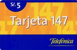 TARJETA TELEFONICA DE PERU. PREPAGO (002) - Peru