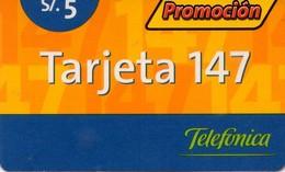 TARJETA TELEFONICA DE PERU. PREPAGO (003) - Peru