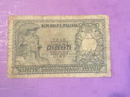 Italie 50 Lire 1951 P91 Circulé - [ 2] 1946-… : Républic