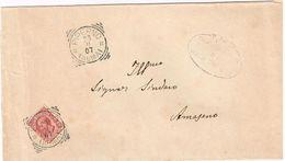 X1525 10 Centesimi Leoni - 1907 Viaggiata Da Piperno (Priverno Latina) A Amaseno (Frosinone) - Roccasecca Dei Volsci - Storia Postale