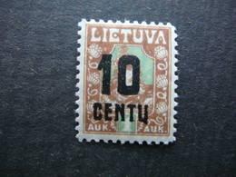 Lietuva Lithuania Litauen Lituanie Litouwen # 1922 MH # Mi.167 - Lituanie