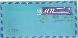 G227 - Nations Unies - Aérogramme à 15c En FDC Le 16/10/1972 à New York - Lettres & Documents