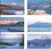 6 Télécartes Japon Japan Montagne Mountain (D 522) - Montagnes