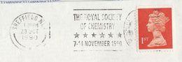 1990 GB COVER CHEMISTRY SLOGAN Pmk ROYAL SOCIETY OF CHEMISTRY EVENT  Sheffield Stamps - Chemistry