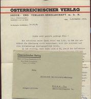 Brief D.österr.Verlages Wien VIII, Datiert 1948, Gute Erhaltung - Mitteilung
