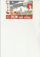 CARTE 10 E SALON DE LA CARTE LUTTERBACH -ANNEE 1987-DESSIN  DE LOUMA -L.MECHLER-N°12 - Collector Fairs & Bourses