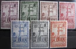 LOT R3586/1018 - 1938 - COLONIES FR. - COTE DES SOMALIS - LA MOSQUEE DE DJIBOUTI - N°148 à 154 NEUFS* - French Somali Coast (1894-1967)