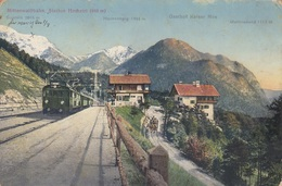 MITTENWALDBAHN (Tirol) - Station Hochzirl, Gasthof Kaiser Max, Feldpost, Stempel D.K.u.k.Militärzensur Innsbruck, ... - Altri