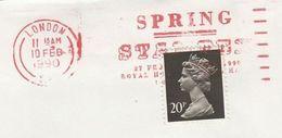 1990 GB COVER SLOGAN Pmk SPRING STAMPEX Philatelic Exhibition Stamps - Esposizioni Filateliche
