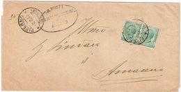 X1529 5 Centesimi Leoni X 2 - 1919 Viaggiata Da Piperno (Priverno Latina) A Amaseno (Frosinone) - Storia Postale