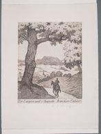Ex-libris Moderne XXème Illustré -  Allemagne - Cavalier Arrivant Au Village - Dr Eugen Und Auguste Bircher-Oehler - Ex-libris