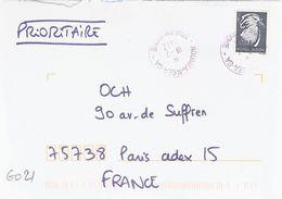 G021 - Nouvelle Calédonie - Cagou 110F Sur Lettre De Nouméa-N'Gea Guichet Annexe Le 18/07/2012 - Cartas